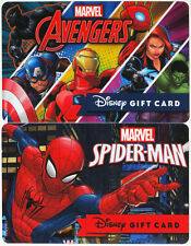 2 Disney Marvel Gift Cards: Guardians of the Galaxy and Spiderman 2016 Sold Out