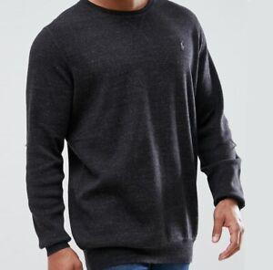 Ralph Lauren Jumper BNWT 1XB size Big Tall Mens Black Marl Crew Neck Sweater