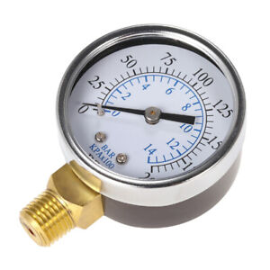 0-200 Psi 0-14 Bar Kompressor Druckluft-Manometer NPT-Manometer