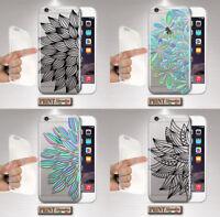 Coque Pour , Samsung, Transparent Mandala Femme Chic , Silicone, Doux, Mode