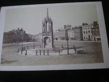Cdv old photograph market square Devizes Wiltshire c1860s
