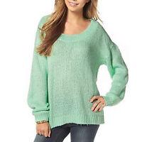 Damen Oversized-Pullover Rundhals Simple SCHWARZ Größe 36//38 48//50 NEU