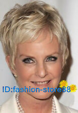Popular New Fashion women lady girl short hair light blonde wig +wig cap