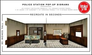 Extreme Sets Police Station Pop-Up Diorama 1/18 Scale for 3.75in-4in Figures