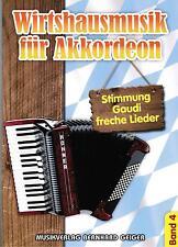 Akkordeon Noten : Wirtshausmusik für Akkordeon 4 (Böhmischer Traum etc.)