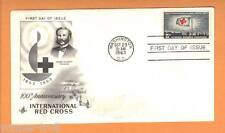 1963 International Red Cross HENRI DURANT #1239 FDC 100th Anniversary