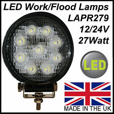 Round LED work lamp flood light 1600 lumen 9 LED's 12/24V tractor recovery truck