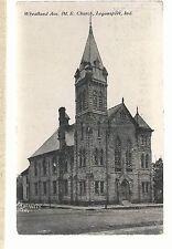 Wheatland Ave M E Church Logansport In 1914 Methodist Episcopal Postcard 693