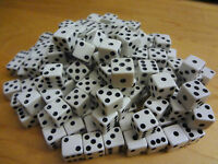 Lot of 200 White Small MINI 8mm 8 mm D6 Dice Square Gaming Casino Fast Ship D 6
