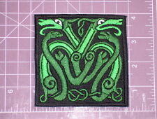 Celtic Intertwined Dragons Embroidered Patch