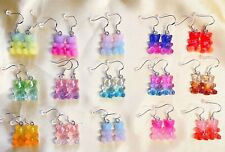 Glitter Gummy Bear Earrings Sweet Novelty Cute Kawaii Jewellery || Handmade