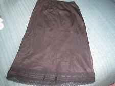 VTG Ashley Taylor Smooth Black Nylon Lace Trim Classy Half Slip Skirt sz S