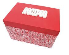 Red Recipe Box, Splosh, Kitchen, Chefs,  Cooks, Baking, Wedding Gifts REC-R