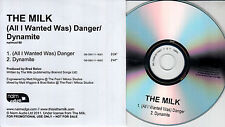 THE MILK (All I Wanted Was) Danger 2011 UK 2tk promo CD