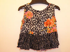 RIVER ISLAND Baby Girls Black Floral DESIGNER Summer Dress Long Top 6-9 Months