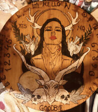 """hand made wooden witches seance / ouija table top """" Lillith"""""""