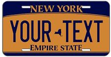 PERSONALIZED BLUE ORANGE NEW YORK VANITY LICENSE PLATE AUTO TAG
