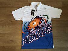 adidas Mumbai Indian Short Sleeve Mens Cricket Top - White Size Medium
