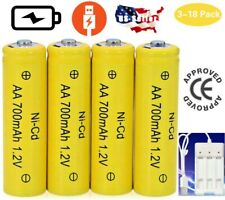 3-18 Pcs AA Rechargeable Batteries NiCd 700mAh 1.2V With AA/AAA Battery Charger