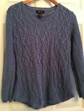 Beautiful Blue Long Sleeve Tapered Sweater By Style & Co. Women's Size M