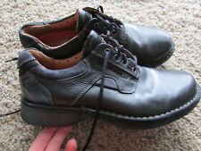 CLARKS BLACK LEATHER SHOES MENS 9.5 LACE UPS