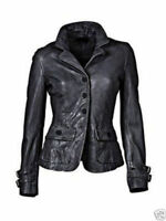 Womens New Soft Lambskin Leather Jacket Blazer Black Slim Fit Designer lady Coat