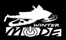 Snowmobile decal, Winter mode decal, snowmobile vinyl decal stickers
