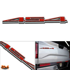 """""""454"""" Polished Metal 3D Decal Red&Silver Emblem sticker For GMC/Chevrolet Pickup"""