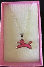 925 Sterling Silver DOG Pendant and Chain, Many Colours. Birthday, Christmas