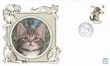 (01624) Falkland Islands FDC Cats 1 December 1993