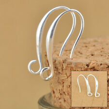 100X Bead Hook Earring Pinch Earwire Jewelry Sterling Silver Making Findings