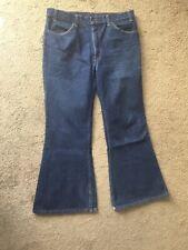 Vtg 1969 Levis 684 Bell Bottom Denim Indigo Jeans Orange Tab Made in USA 38 X 30