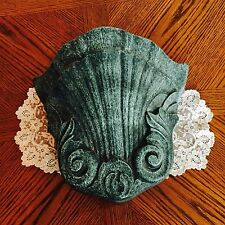 Large Decorative Pottery Wall Sconce Pocket Planter ~ Made in England