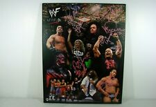 Vintage Signed WF Attitude Wooden Poster The Rock Steve Austin Mankind Sable COA