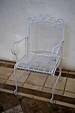 Vintage Art Deco Iron Wire Mesh Patio Outdoor Arm Chair
