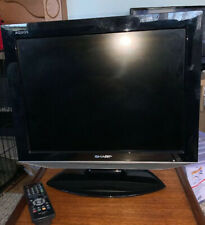 SMALL SHARP AQUOS TV. WITH REMOTE CONTROL