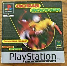 CAN Soccer Platinum ps1 Playstation 1-Handbuch nur