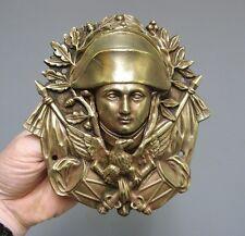 Bouche de billard en bronze à l'effigie de Napoléon 1er.