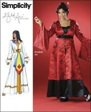 Simplicity 2837 OOP Khaliah Ali Design 18W-24W Cleopatra or Asian Gown Costume