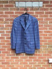 Bachrach Blue Silk/Wool Blazer Jacket 40 L
