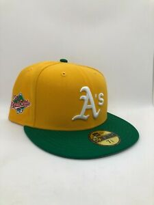 Topperzstore 7 3/8 Oakland Athletics Hat w/ 1989 World Series Patch