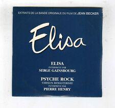 CD SINGLE PROMO (NEUF) OST ELISA SERGE GAINSBOURG PIERRE HENRY PSYCHE ROCK