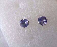 1 Carat Tanzanite Stud Earrings 14K White Gold Pierced GREAT GIFT!