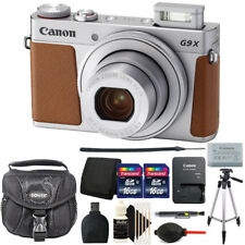 Canon Powershot G9 X Mark II Digital Camera Silver with Deluxe Accessory Kit