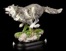 Wolf Figur laufend - Laufend Deko Statue auf Base