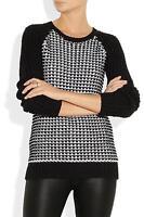 Jason Wu crochet-knit cotton-blend sweater size M