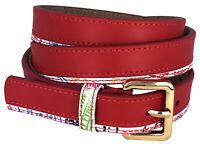 Cintura Alv By Alviero Martini Donna Rosso/Bianco Belt Woman Red/White Made I...
