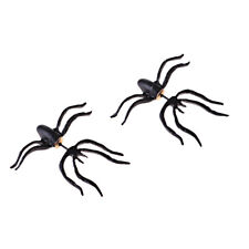 Black Spider Earring Stud Party Gothic Emo Rock Fashion Punk 1 Pair