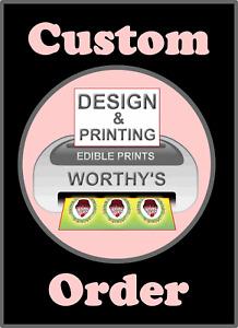 Personalised Enderman Cupcake Toppers Edible Icing Sheet 24 x 4cm