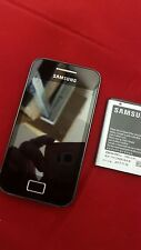 SAMSUNG GALAXY ACE ON EE-TMOBILE-ORANGE BLACK MOBILE PHONE PRISTINE CONDITION